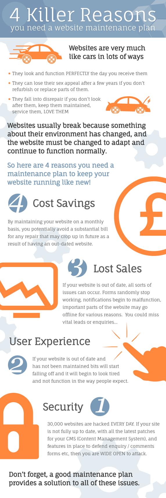 Website Maintenance Plan Infographic